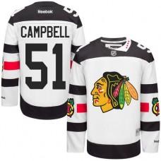 Chicago Blackhawks #51 Brian Campbell Premier White 2016 Stadium Series Reebok Jersey