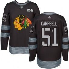 Chicago Blackhawks #51 Brian Campbell Premier Black 1917-2017 100th Anniversary Adidas Jersey