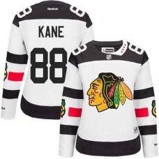 Women's Chicago Blackhawks #88 Patrick Kane Authentic White 2016 Stadium Series Reebok Jersey