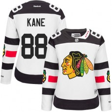 Women's Chicago Blackhawks #88 Patrick Kane Premier White 2016 Stadium Series Reebok Jersey
