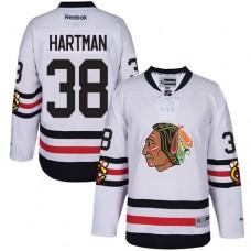 Kid's Chicago Blackhawks #38 Ryan Hartman Premier White 2017 Winter Classic Reebok Jersey