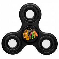 Chicago Blackhawks 3 Way Fidget Spinner - Black