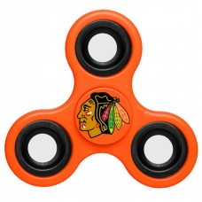 Chicago Blackhawks 3 Way Fidget Spinner - Orange
