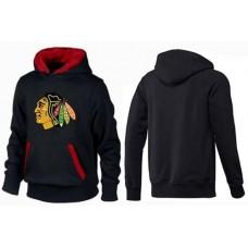 Chicago Blackhawks Big & Tall Logo Pullover Black/Red Hoodie Sweather
