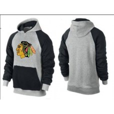 Chicago Blackhawks Big & Tall Logo Pullover Grey/Black Hoodie Sweather
