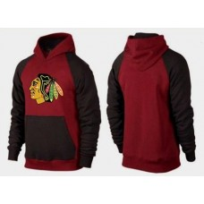 Chicago Blackhawks Big & Tall Logo Pullover Red/Brown Hoodie Sweather