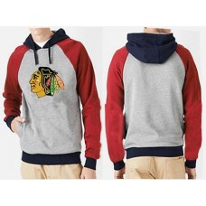 Chicago Blackhawks Big & Tall Logo Pullover Grey/Red Hoodie Sweather