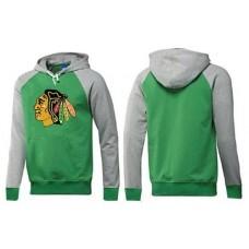 Chicago Blackhawks Big & Tall Logo Pullover Green/Grey Hoodie Sweather