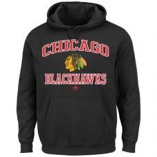 Chicago Blackhawks Majestic Heart & Soul Black Hoodie Sweather