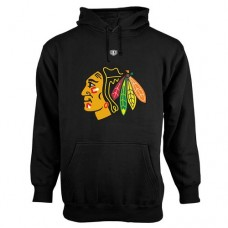 Chicago Blackhawks Old Time Hockey Big Logo with Crest Pullover Hoodie Hoodie Sweather