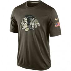 Chicago Blackhawks Nike Olive Salute To Service KO Performance Dri-FIT T-Shirt